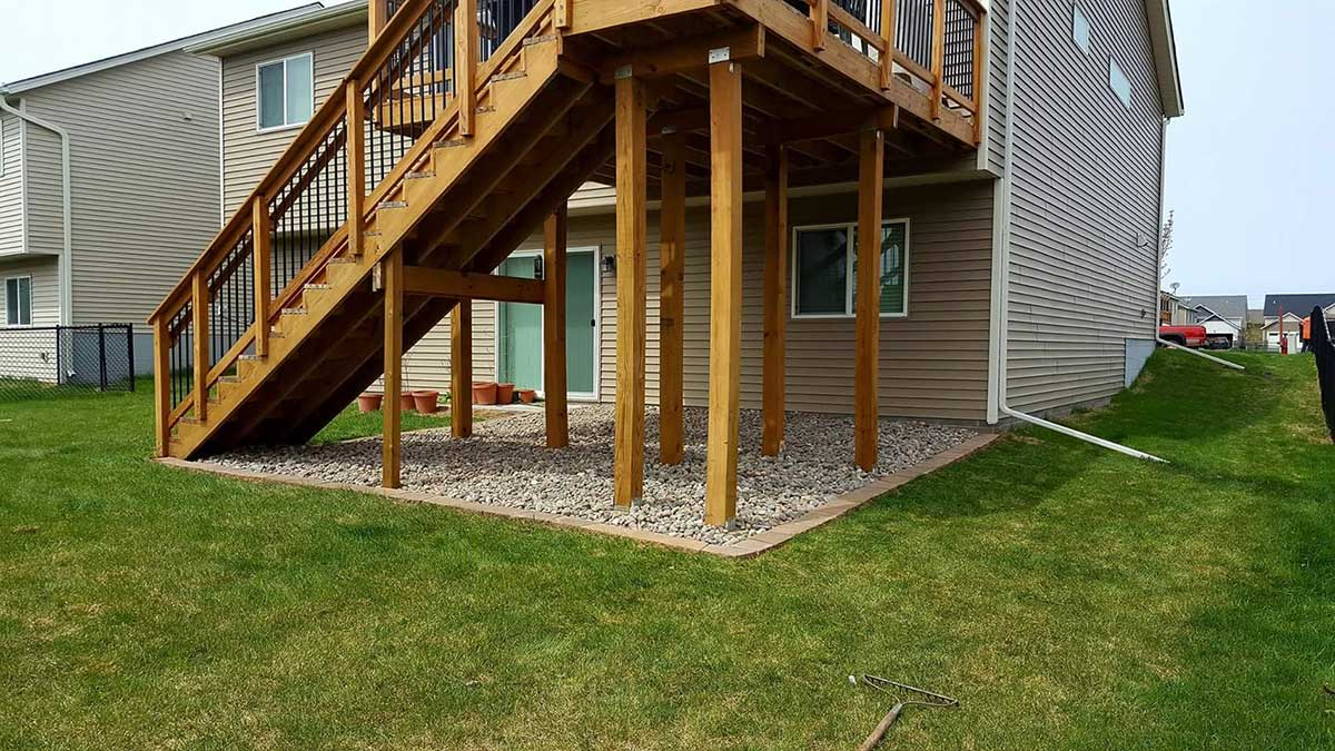 Deck Wood And Metal
